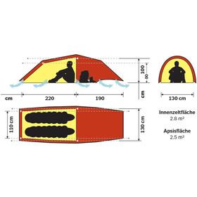 Hilleberg Anjan 2 GT Zelt rot